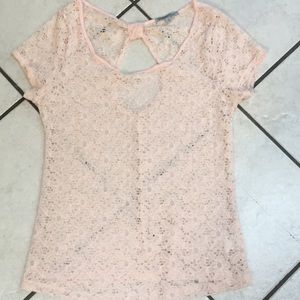 Charlotte Russe open back lace top